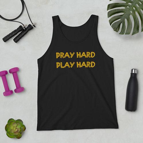 LUSU Designs Unisex Tank Top Collection Pray Hard Play Hard Midas Label