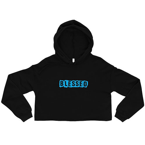 LUSU Designs Crop Hoodie Collection Blessed Azure Label