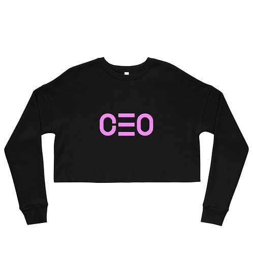 LUSU Designs Crop Sweatshirt Collection CEO Flamingo Label