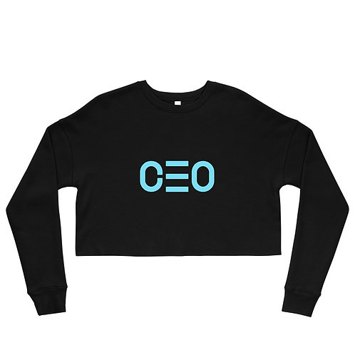 LUSU Designs Crop Sweatshirt Collection CEO Azure Label