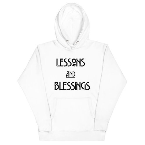 LUSU Designs Unisex Hoodie Collection Lessons & Blessings Noir Label I