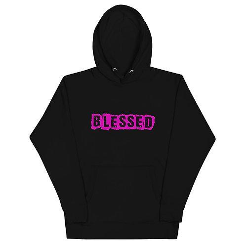 LUSU Designs Unisex Hoodie Collection Blessed Flamingo Label