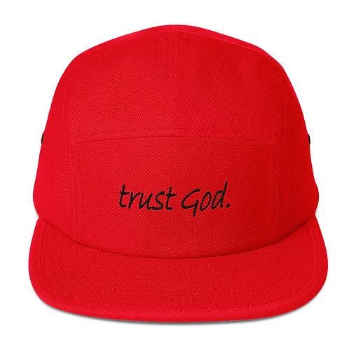 LUSU Designs Five Panel Cap Collection Trust God. Noir Label