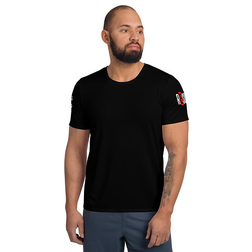 LUSU Designs Men's MaxiDri Athletic T-shirt Results Fire Label III