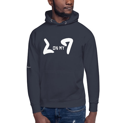 LUSU Designs Unisex Hoodie Collection On My Square Blanco Label IV