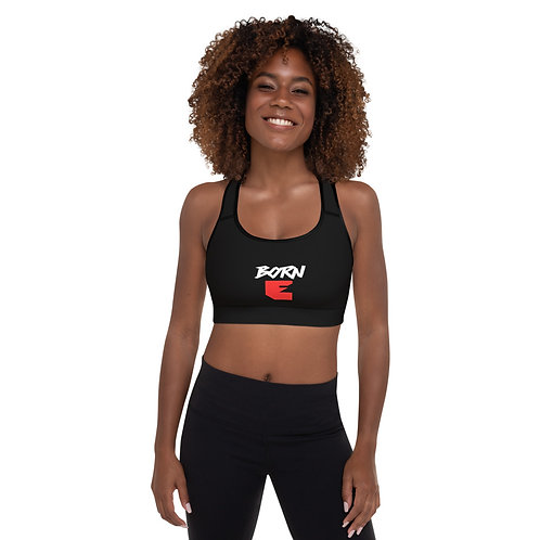 LUSU Designs Padded Sports Bra Collection Born Ready Blanco Label