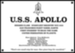 USS Apollo Ship Plaque by Lee Quessenberry