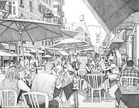 18x24 pen and ink. _ Blonde With Sunglasses__#mulberryst #littleitaly #nyc #penandink.jpg