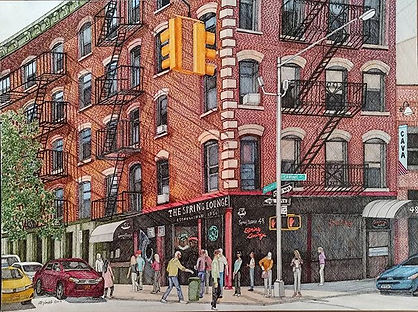 Mulberry and Spring, NYC 18_x24_ colored