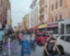 _Bike Riding on Mott St._ 18_x24_ Colore