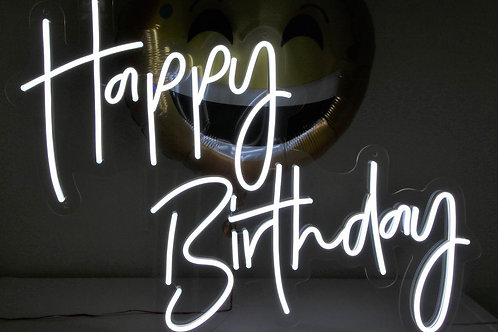 Happy Birthday - Signe en néon LED