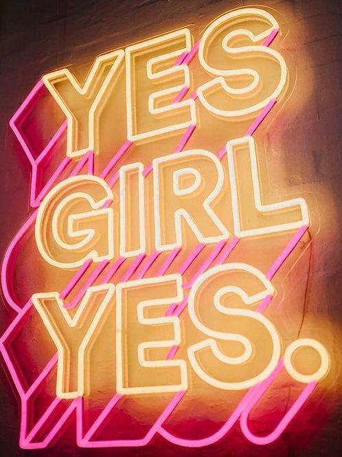 Yes Girl Yes - Signe en néon LED