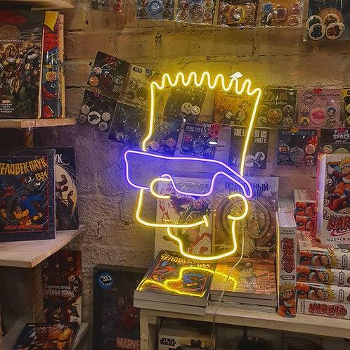 Bart - Signe en néon LED