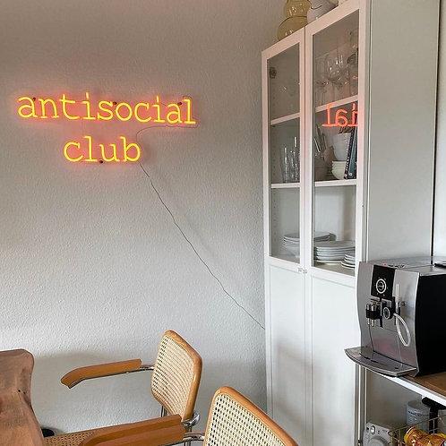 Antisocial Club - Signe en néon LED