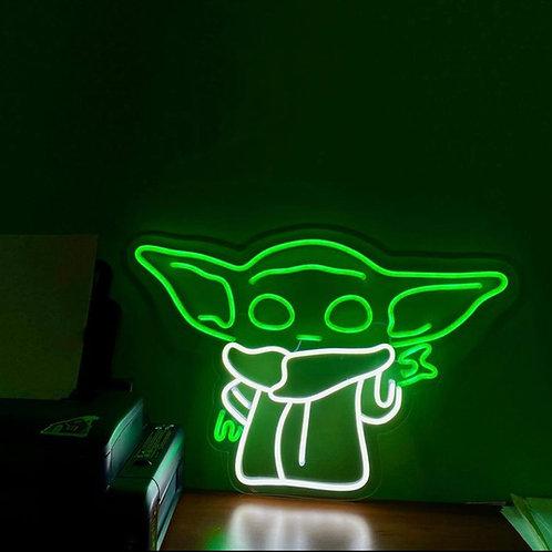 Baby Yoda - Signe en néon LED