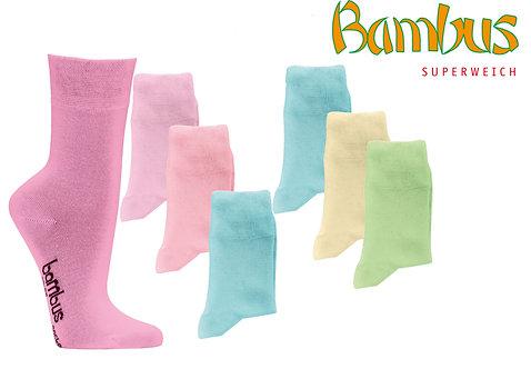 Bunte Bambus Wellnesssocken * 3er-Bündel