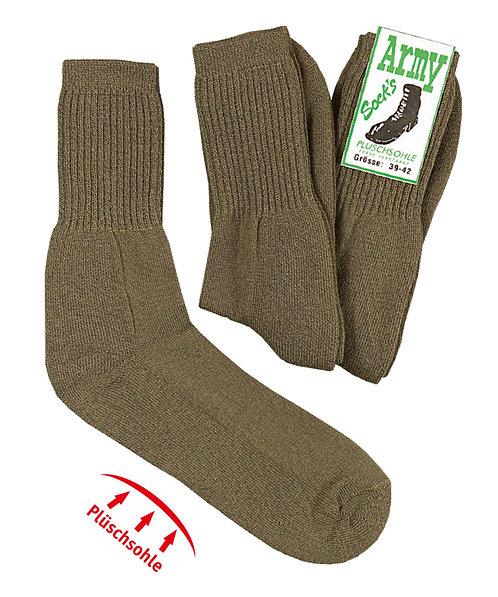 """""""Army-Style""""-Socken mit Wolle * 3er-Bündel"""