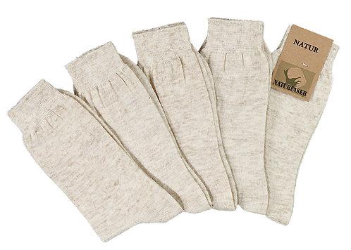 Socken mit Leinen * 5er-Bündel