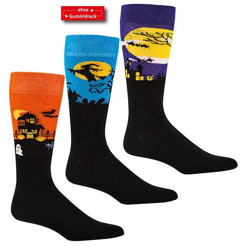 """""""Spukschloss"""" Unisex Socken * 3er-Bündel"""