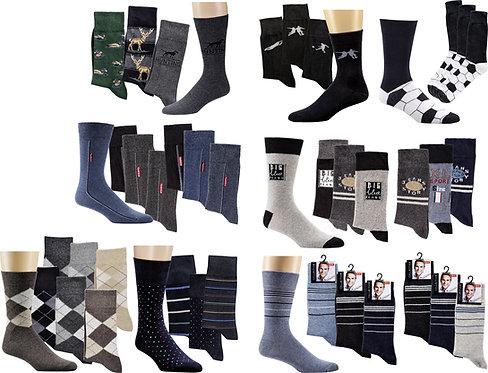 Motiv-Herren-Socken * 60er-Sortiment
