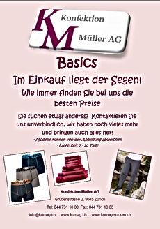 Basics Katalog Konfektion Müller AG
