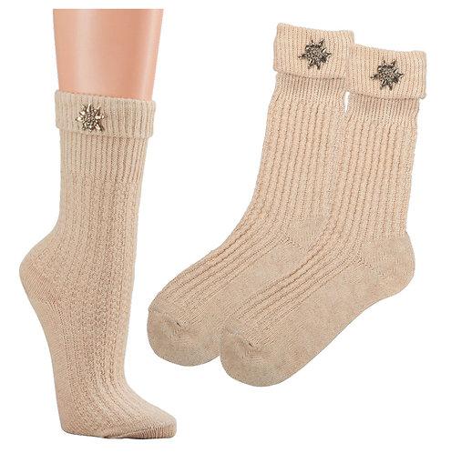 Umschlag-Socken, Edelweiss