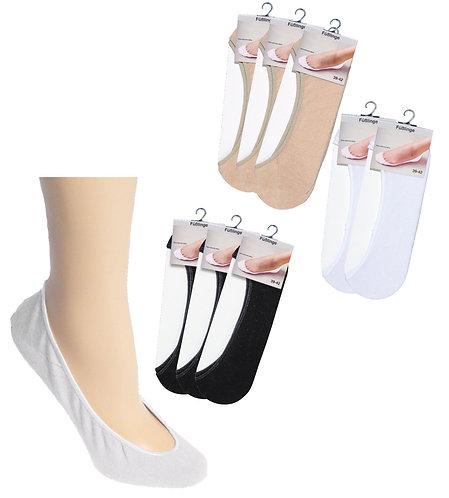 Füßlinge unsichtbar im Schuh * 3er-Bündel