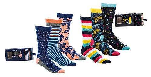Geschenkbox Herren-Socken * 3er-Pack
