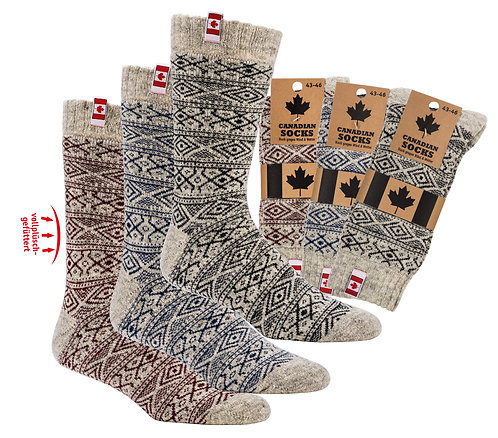 """Canadian Socks"" THERMO-Wollsocken"