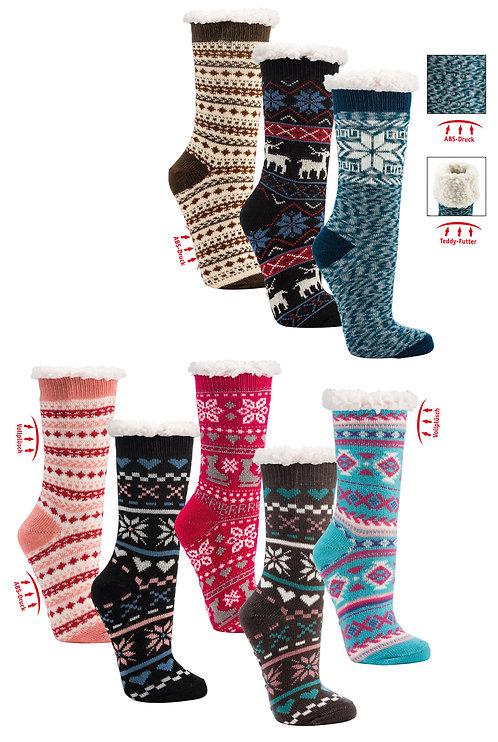 Hütten-Socken Flauschig Homesocks Damen