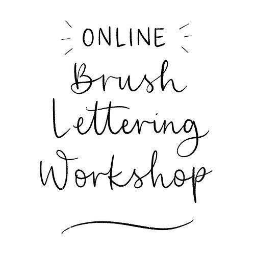 Beginners Brush Lettering Workshop