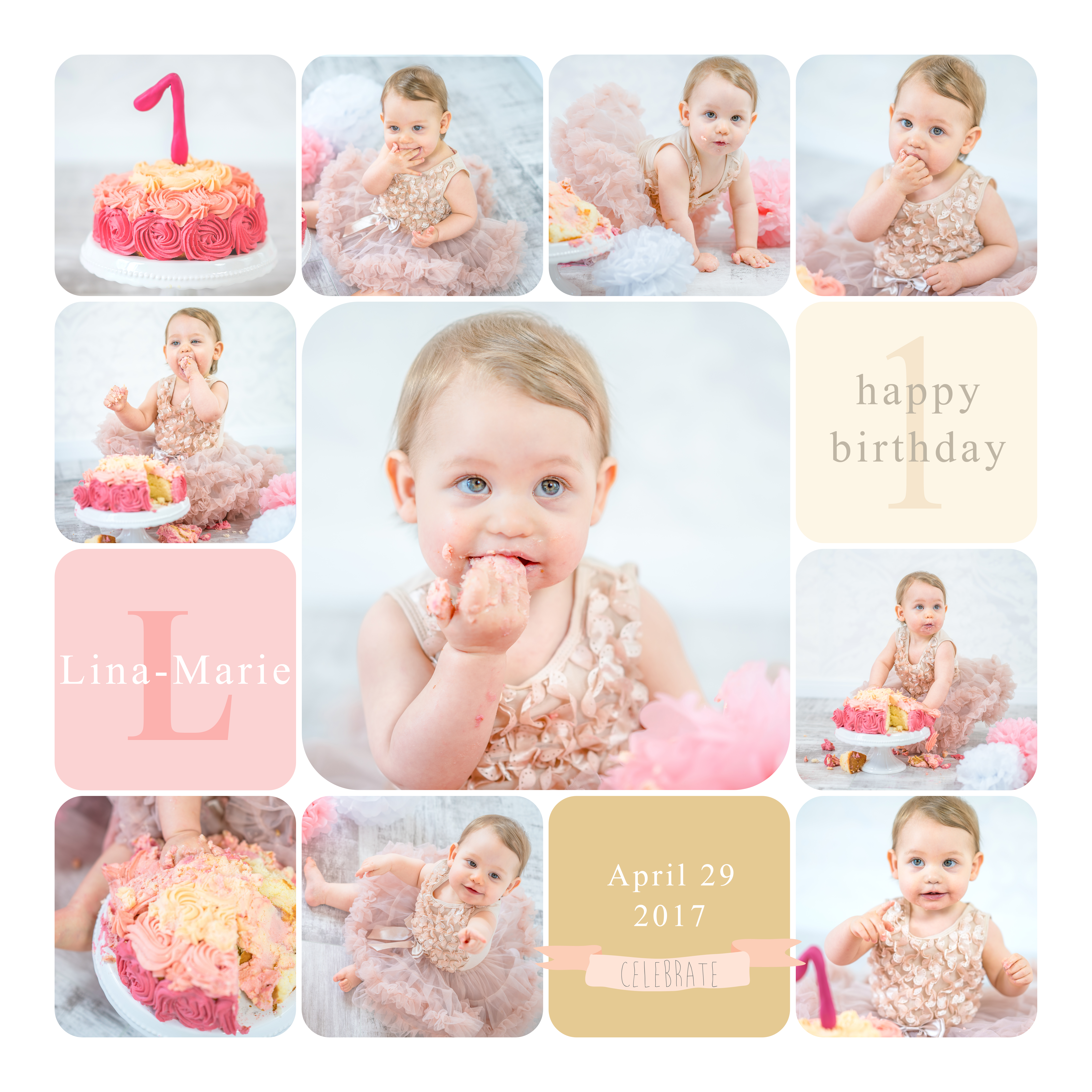 Smas Cake Shooting Collage