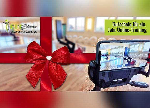 1 Jahr Online-Fitness - Geschenkgutschein