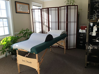 Acupuncture treatment room Virginia