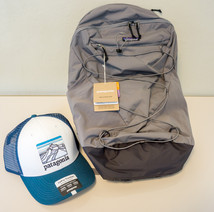 Patagonia Day Pack and Trucker Hat