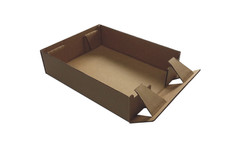 corrugated tray