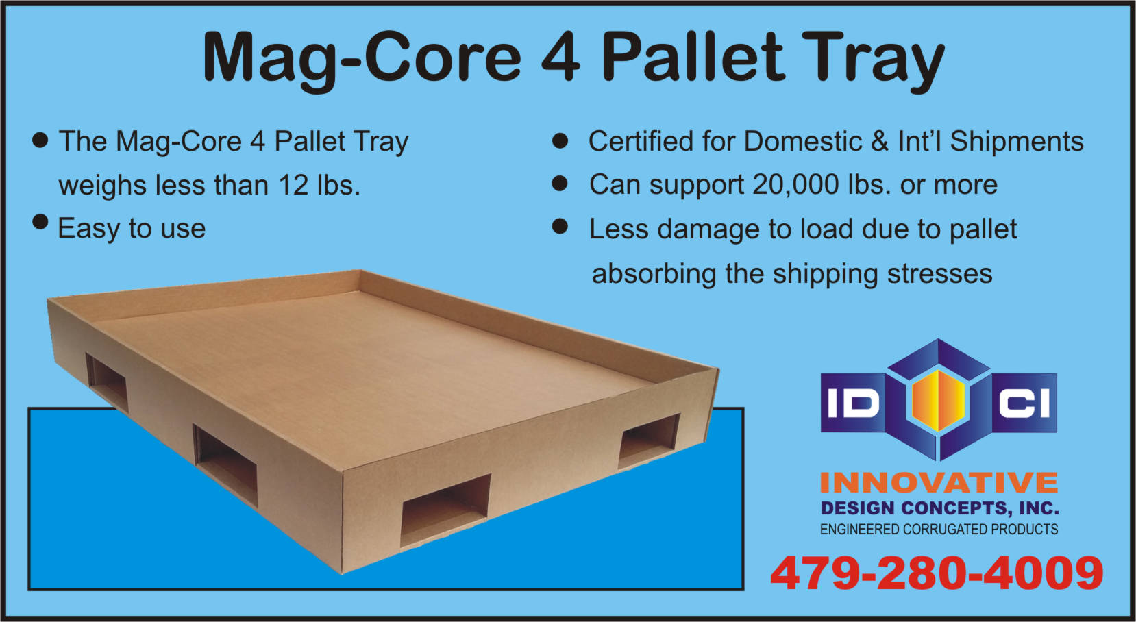 corrugated pallet tray