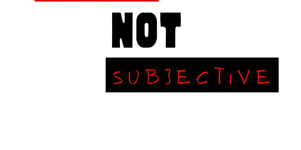 Black Is Not Subjective