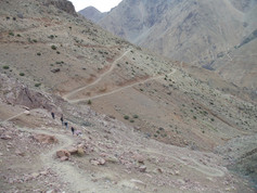 Trekking at the atlas mountains