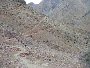 Trekking at the atlas mountains