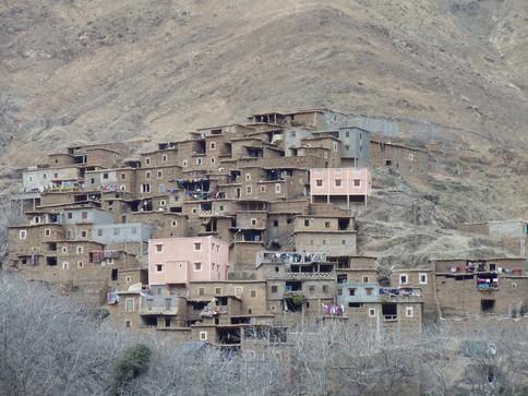 Village at the atlas mountain