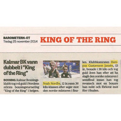 Guld i King of the ring 2015