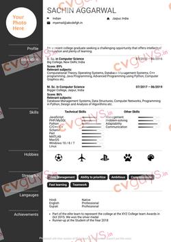 Fresher Resume Sample by CVGUYS.IN