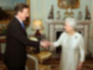 David Cameron meeting the Queen