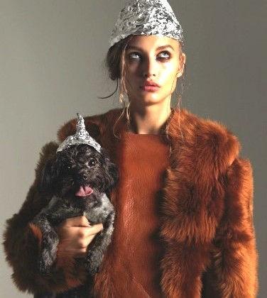 Fashion model tin foil hat