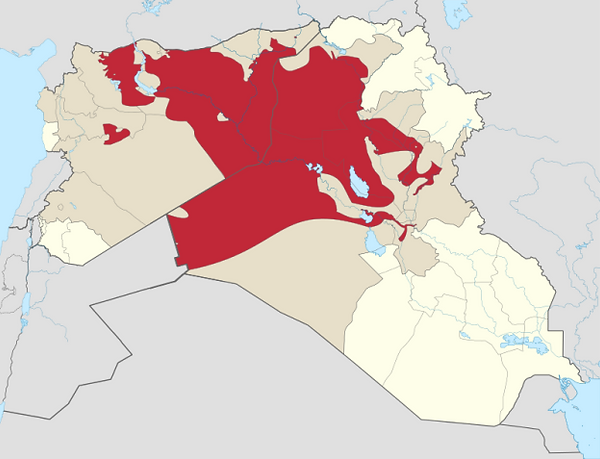 Areas under the Islamic State