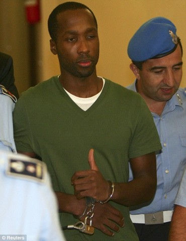 Rudy Guede appearing in court