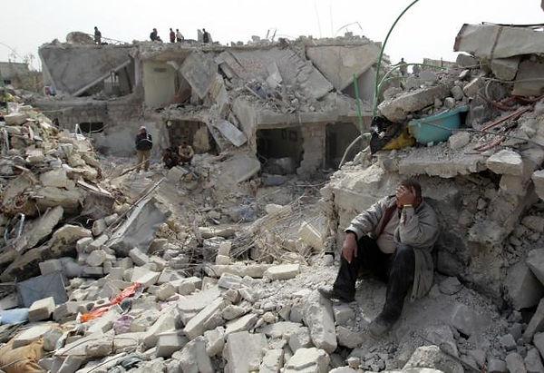 Syrian civil war damage