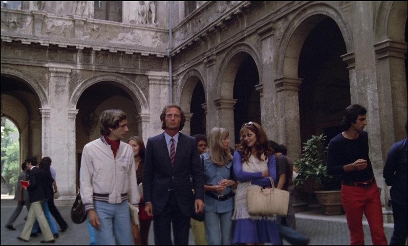Scene from Torso leaving university