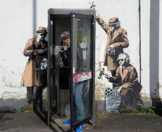 Banksy GCHQ mural